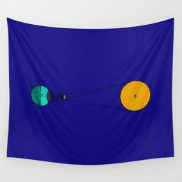 Solar Eclipse Illustrated Wall Tapestry
