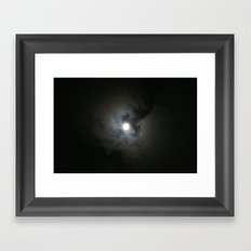 Halo Moon Framed Art Print