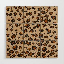 Pixelated Leopard Wood Wall Art