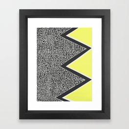 Abstract Mountain Range Framed Art Print