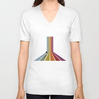lonely V-neck T-shirts featuring Lonely by Whitney Retter