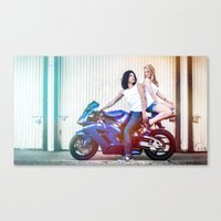 the vampire diaries Canvas Prints featuring Motorcycle Diaries by Marcus Meisler