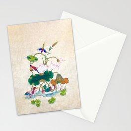 Minhwa: Lotus and Mallards (Korean traditional/folk art) Stationery Cards
