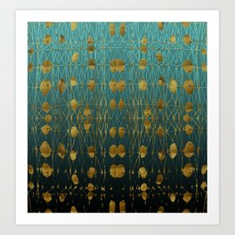 Kelp Forest Blue Art Print