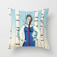 Russian beauty Throw Pillow