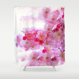 Cherry Blossom Tree So Pink Shower Curtain