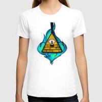 bill cipher T-shirts featuring Gravity Falls- Bill Cipher  by merrigel