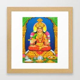 Indian Art Hindu God Lord Annalakshmi Framed Art Print