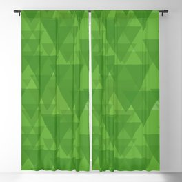 Gentle green triangles in intersection and overlay. Blackout Curtain