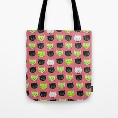 good kitty-bad kitty pattern PINK Tote Bag