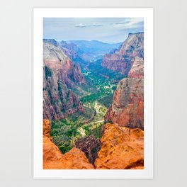 Magnificent Zion National Park from Observation Point Art Print
