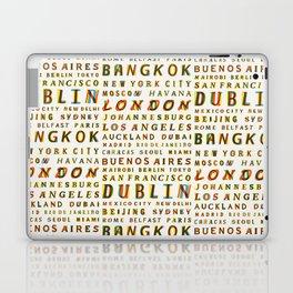 Travel World Cities Laptop & iPad Skin