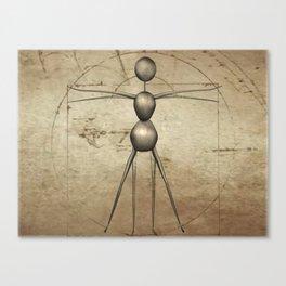 Vitruvian AntWoman Canvas Print