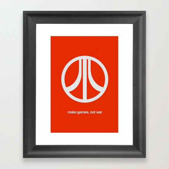 Make Games, Not War Framed Art Print