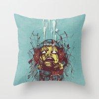 propaganda Throw Pillows featuring Propaganda II. by Dr. Lukas Brezak