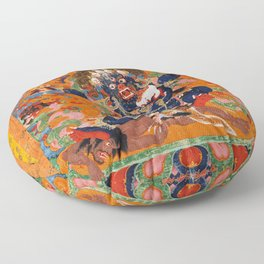 Buddhist Diety Mahakala 2 Floor Pillow