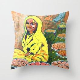India - At the Market (Colour Me India) Throw Pillow