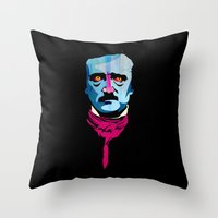 poe Throw Pillows featuring Poe by Alvaro Tapia Hidalgo