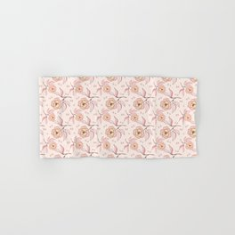 Pink Peony Kiss Floral Pattern Hand & Bath Towel