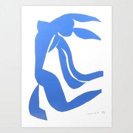 Henri Matisse,Le chevelure från 1952, Blue Hair Artwork, Men, Women, Youth Art Print