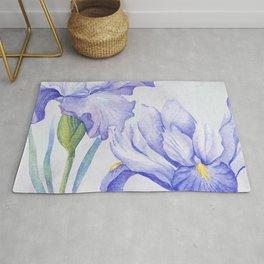 Watercolor Iris Rug