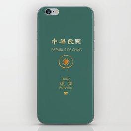 Republic of China Passport iPhone Skin