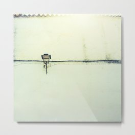 Retro white streetlight Metal Print