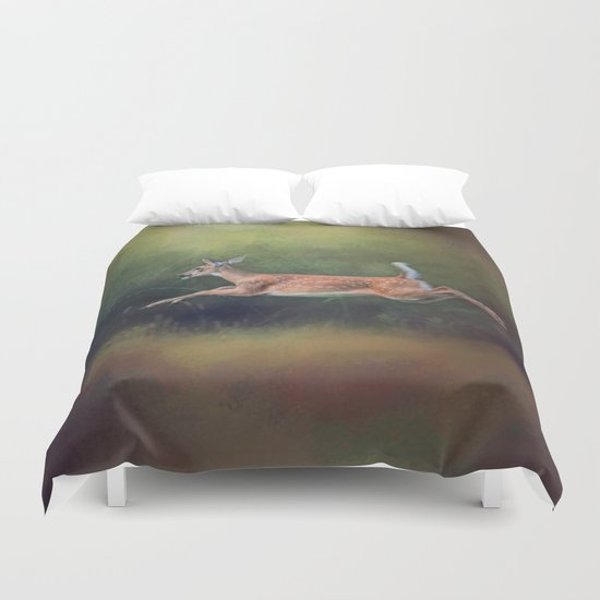 I Can Fly - Deer - Wildlife Duvet Cover