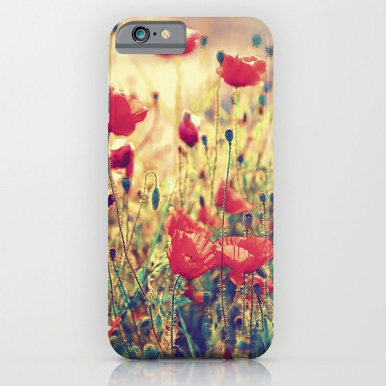 Morning Light - Poppy Field iPhone & iPod Case