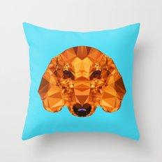 Geometric Dachshund Throw Pillow