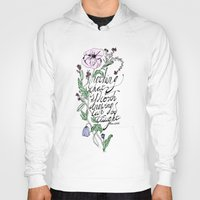 oscar wilde Hoodies featuring Oscar Wilde Quote  by TLG Creative