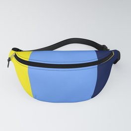 BEACH THEME TRIPLE THICK STRIPES - NAVY BLUE- BRIGHT YELLOW - BRIGHT BLUE Fanny Pack