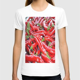 Market Fresh Red Chili Peppers T-shirt