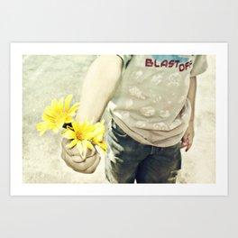 Grandmas Flowers Art Print