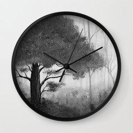 The Dark Forest (B&W) Wall Clock