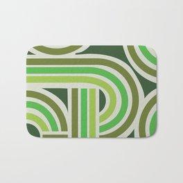 70's Green Funky Bath Mat