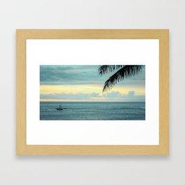 Waimea at Sunset - Hawaii Seascapes #5 - Aikau & Hokulea Framed Art Print