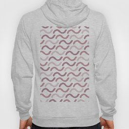 Geometrical abstract girly mauve blush pink pattern Hoody