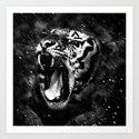 Tiger Head Wildlife by staypositivedesign
