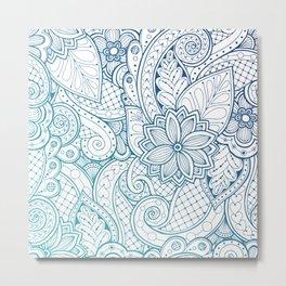 Ethnic floral Mandala Metal Print