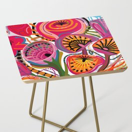 Red Flower Trip Side Table