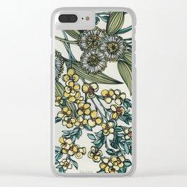 Australian Native Floral Clear iPhone Case