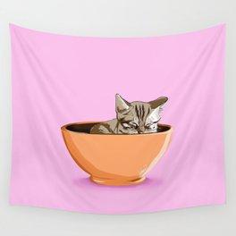 Cat Coffee Mug Wall Tapestry