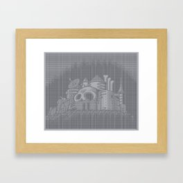 ASCII WILY CASTLE MM2 Framed Art Print