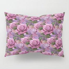 Peach & Purple Roses Pillow Sham