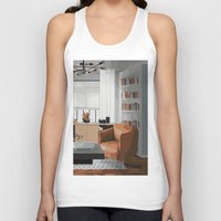 read Tank Tops featuring Read by JuniqueStudio