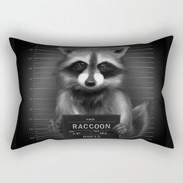 Raccoon Mugshot Rectangular Pillow