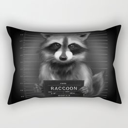 Raccoon Mugshot Rectangular Pillow