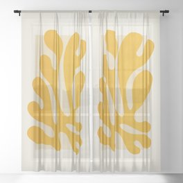 Sun Leaf 2: Matisse Edition   Mid Century Series Sheer Curtain