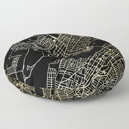 Wilkes-Barre Gold and Black Map Floor Pillow